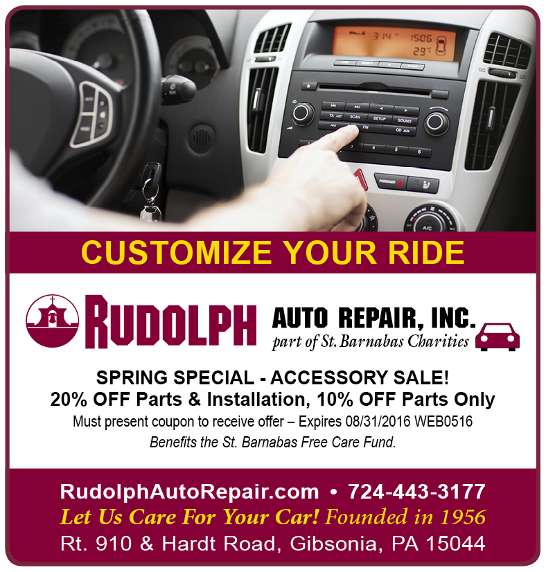 Rudolph Auto Repair Specials
